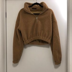 Zaful Cropped Fuzzy Sweater - NWOT